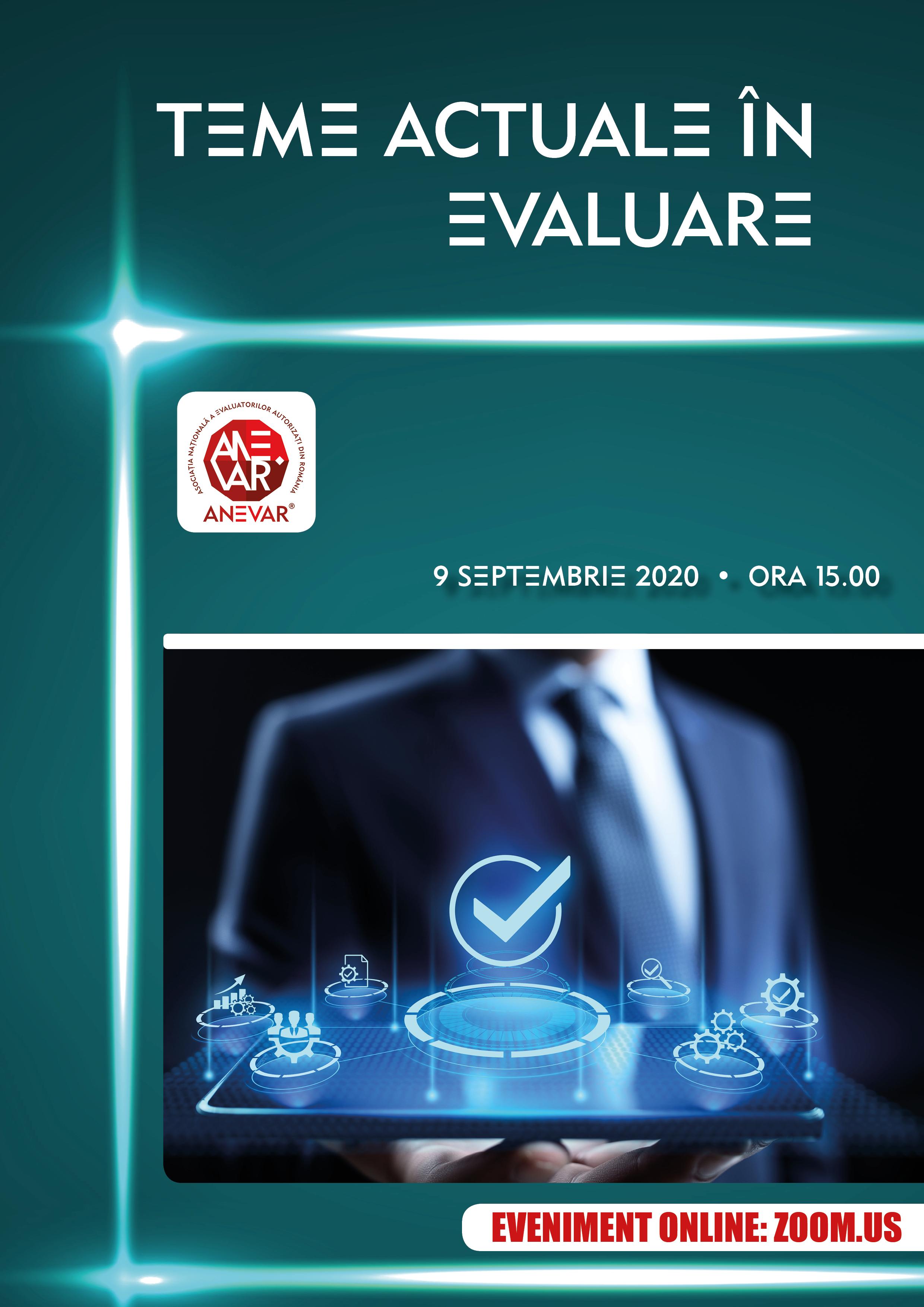 Ziua Evaluatorului din România - 9 septembrie 2020