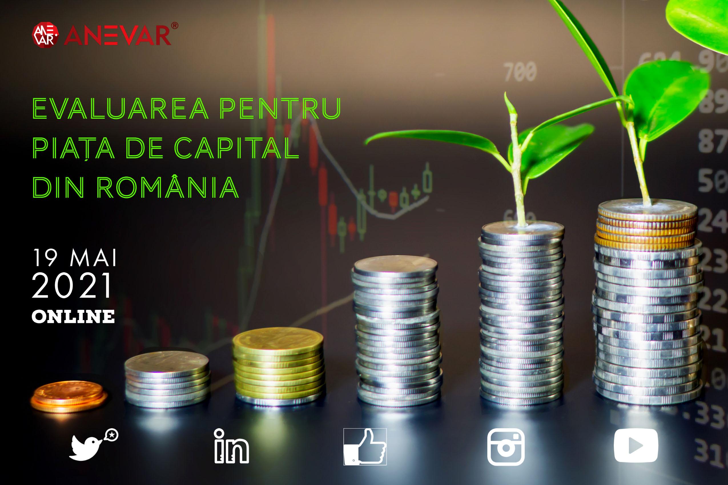 """Programul conferinţei """"Evaluarea pentru piaţa de capital din România"""" - 19 mai 2021, online"""