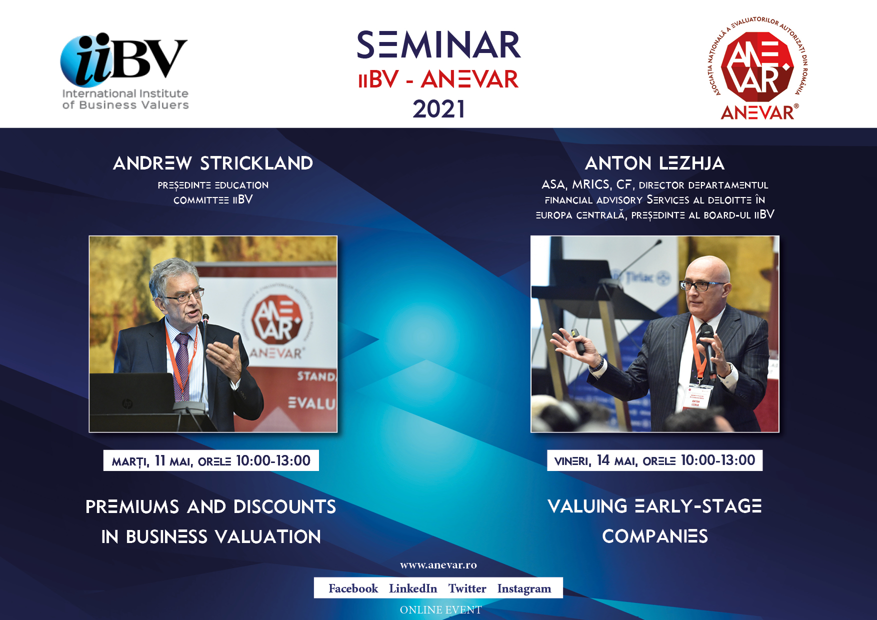Seminar iiBV: Premiums and discounts in Business valuation & Valuing early-stage companies